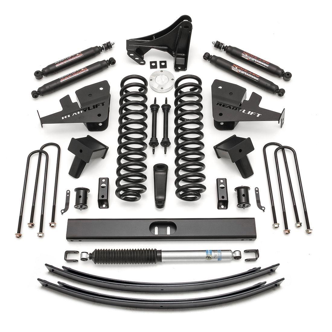 """ReadyLift 8"""" Lift Kit W/ SST3000 Shocks - 2017-2018 Ford Super Duty SRW 4WD 1 PC Drive Shaft"""