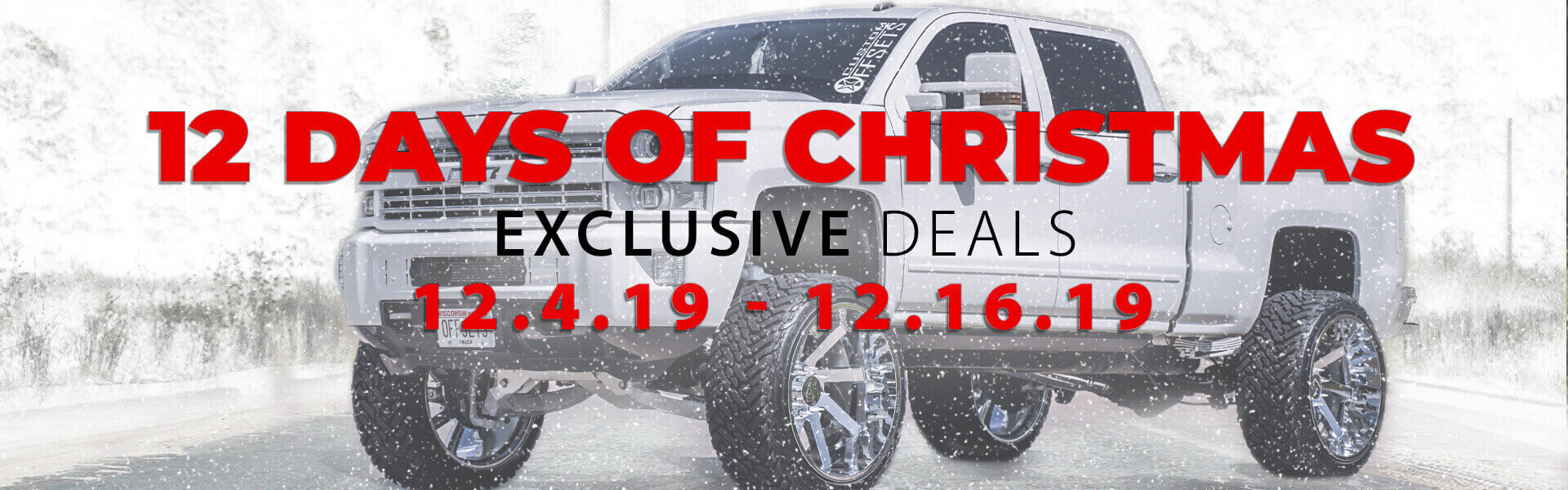 12 Days of Christmas Sale Banner Mobile