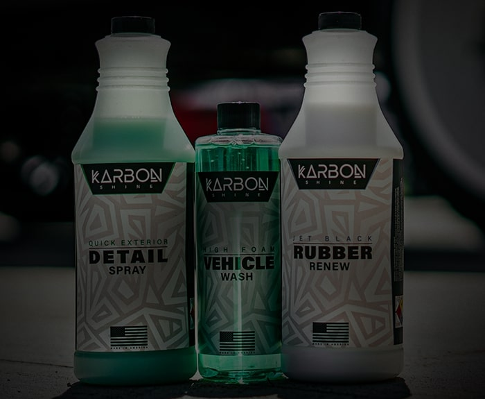 Spray bottles with shoe shine, dirty lip, and back to black cleaning products