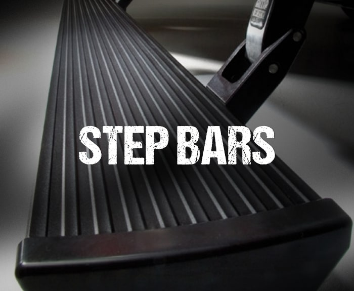 Step bar on a truck