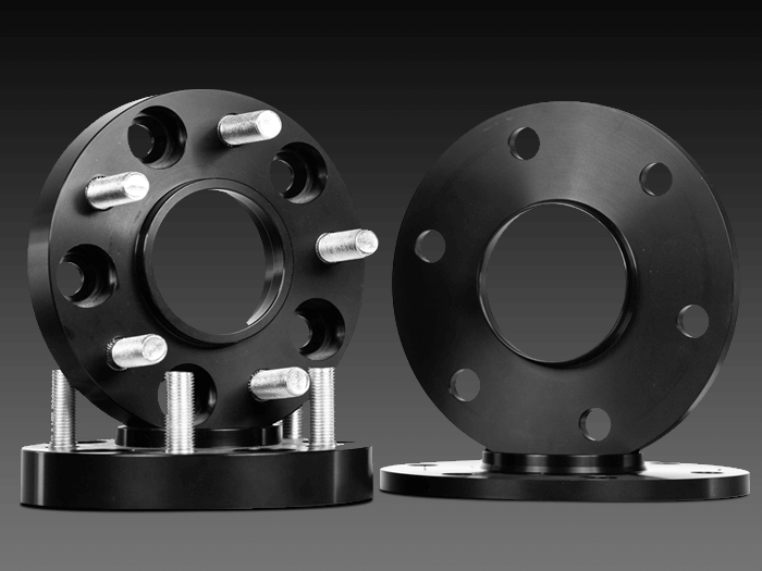 Black truck spacers and adapters