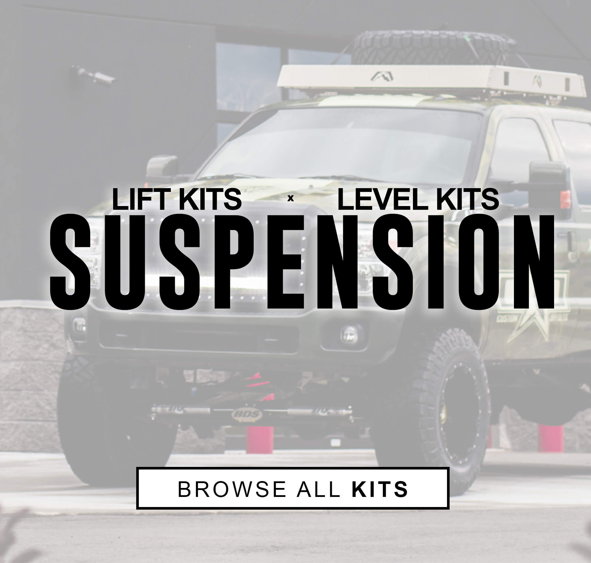 Lift kits, level kits, and more suspension options, Browse all of our kits
