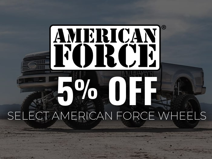 5% Off American Force Wheels