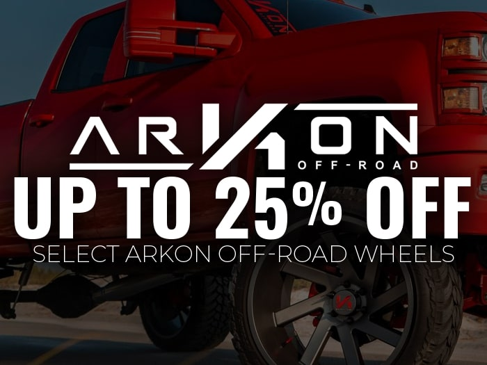 25% Off ARKON OFF-ROAD Wheels