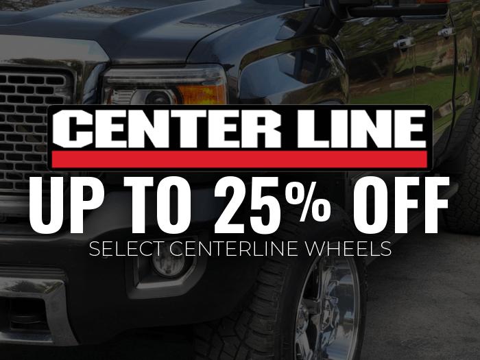 25% off Select Centerline Wheels