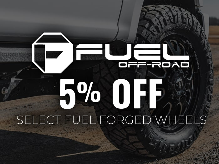 5% Off Fuel Forged Wheels