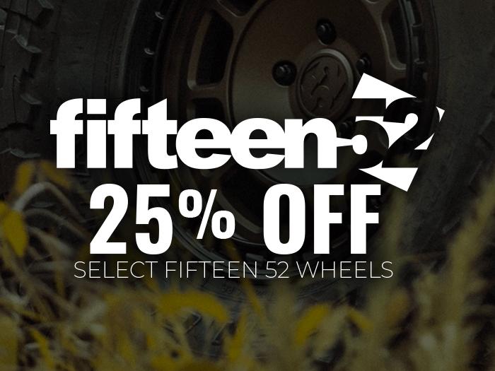 25% Off Fifteen52 Offroad Wheels