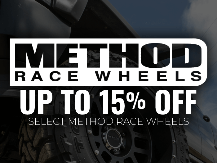 15% off Select Method Wheels