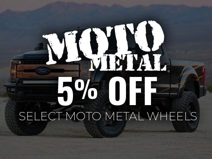5% Off Moto Metal Wheels