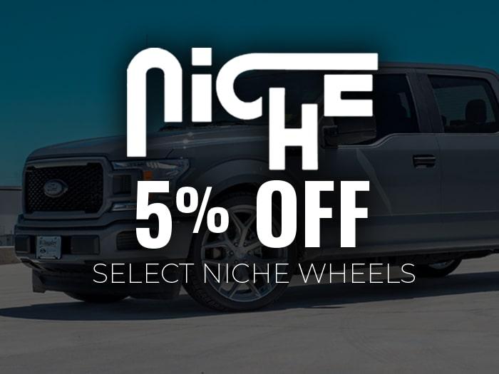 5% Off Niche Wheels