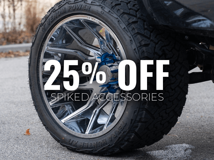 25% Off Spiked Accessories