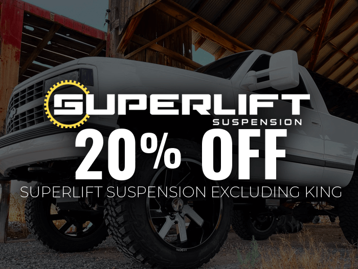 20% Off Superlift Suspension