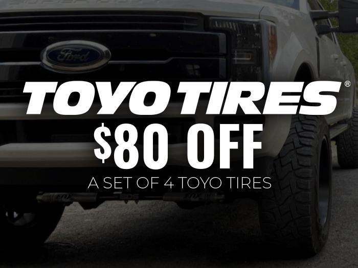 $80 Off Toyo Tires