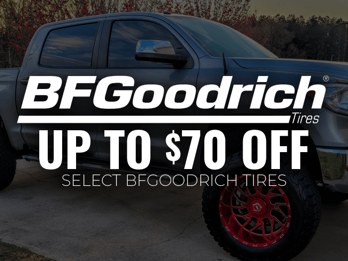 Save up to $70 on BFGoodrich tires