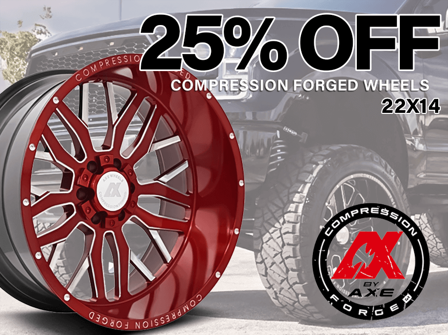 25% off compression forged wheels 22x14, compression forged wheels