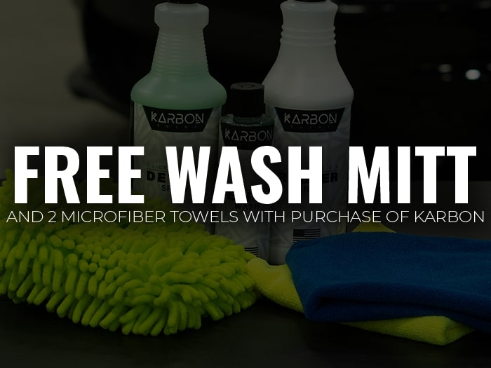Free Wash Mitt and 2 Free Microfibers