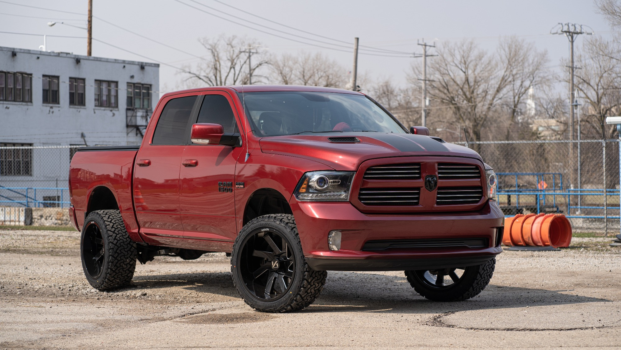 Lifted Ram 1500 with ARKON wheels