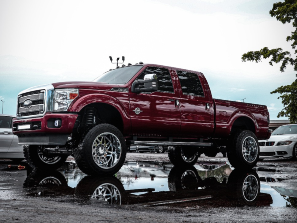 Lifted F250 with Hostile Wheels