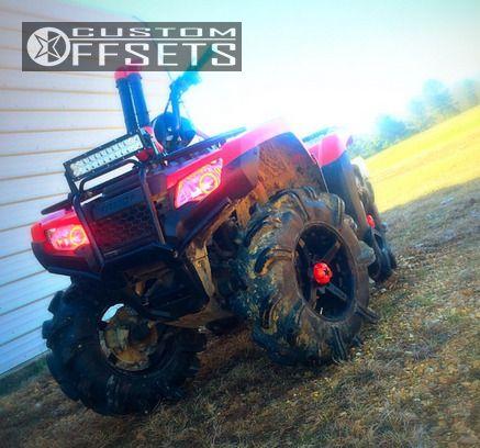 Wheel Offset 2014 Honda Rancher 420 Inside Flares Stock Custom Rims