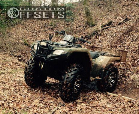 Wheel Offset 2014 Honda Rancher 420 Flush Stock Custom Rims