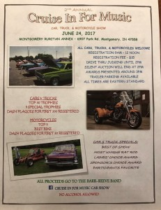 Cruise In For Music Car Show
