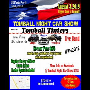 Tomball Night Car Truck Show 2018