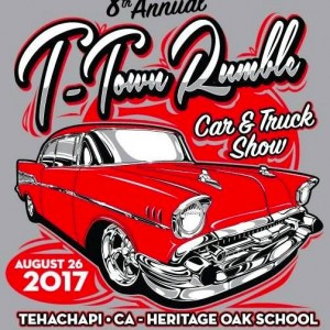 8th T Town Rumble Car Truck Show W Vintage Trailer Round Up