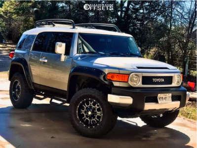 2012 Toyota FJ Cruiser - 17x9 -18mm - Mayhem Fierce - Stock Suspension - 285/70R17