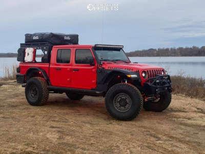 "2020 Jeep Gladiator - 17x9.5 -18mm - Black Rhino Armory - Suspension Lift 4"" - 39"" x 13.5"""