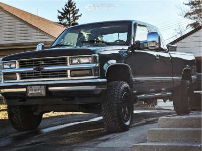"1996 Chevrolet K1500 - 17x9 -12mm - American Racing Ar202 - Suspension Lift 4"" - 305/55R17"