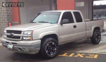 2005 Chevrolet Silverado 1500 - 18x9 -12mm - Red Dirt Road Trek - Stock Suspension - 275/65R18