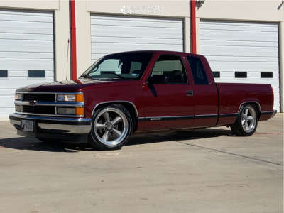 1998 Chevrolet C1500 - 20x8 1mm - Us Mags Standard - Lowered 4F / 6R - 245/40R20
