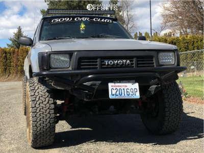 "1989 Toyota Pickup - 15x7 -6mm - American Racing Ar23 - Stock Suspension - 32"" x 11.5"""