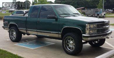 "1997 Chevrolet K1500 - 20x10 -24mm - Fuel Throttle - Leveling Kit - 32"" x 10.5"""