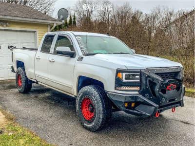 2017 Chevrolet Silverado 1500 - 18x9 -12mm - Fuel Zephyr - Leveling Kit - 265/70R18