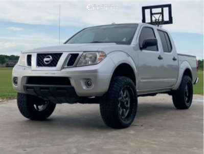 "2013 Nissan Frontier - 20x9 0mm - Moto Metal Mo970 - Suspension Lift 5"" - 265/60R20"