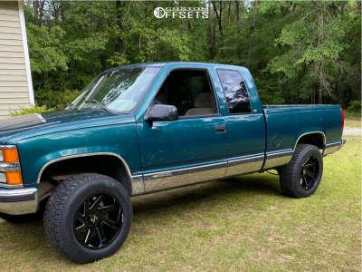 "1997 Chevrolet C1500 - 20x10 -25mm - ARKON OFF-ROAD Lincoln - Suspension Lift 4"" - 275/60R20"
