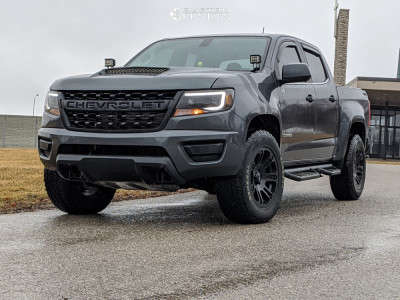 2016 Chevrolet Colorado - 18x9 0mm - Helo He904 - Leveling Kit - 285/60R18