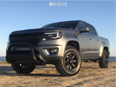 2019 Chevrolet Colorado - 17x8 0mm - Moto Metal Mo970 - Leveling Kit - 265/70R17