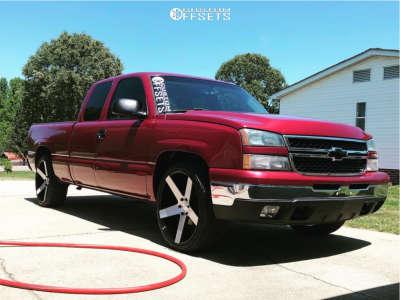 2007 Chevrolet Silverado 1500 Classic - 24x10 30mm - DUB Baller - Stock Suspension - 305/35R24