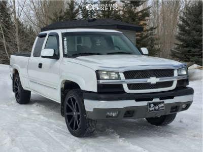 2004 Chevrolet Silverado 1500 - 22x10 30mm - DUB Push - Leveling Kit - 265/40R22