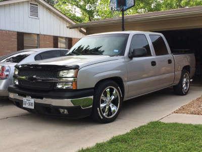 2005 Chevrolet Silverado 1500 - 20x10 0mm - Foose Legend - Lowered Adj Coil Overs - 255/35R20
