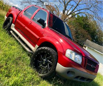 2003 Ford Explorer Sport Trac - 20x10 -18mm - Fuel Renegade - Stock Suspension - 275/55R20