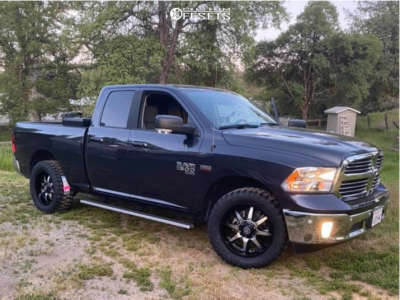 """2019 Ram 1500 Classic - 20x9 -12mm - Panther Offroad 578 - Stock Suspension - 33"""" x 12.5"""""""