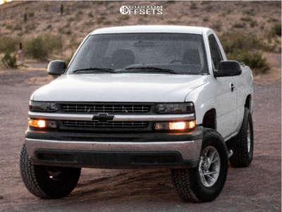 """2002 Chevrolet Silverado 1500 - 16x7 0mm - American Racing Ar647 - Suspension Lift 3.5"""" - 275/65R16"""
