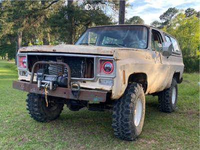 """1977 Chevrolet K5 Blazer - 16x7 -13mm - Cragar 310 - Suspension Lift 4"""" - 38"""" x 12.5"""""""