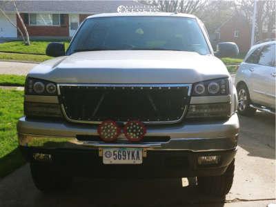 2006 Chevrolet Silverado 1500 - 17x9 18mm - Alloy Ion Style 181 - Leveling Kit - 265/75R17