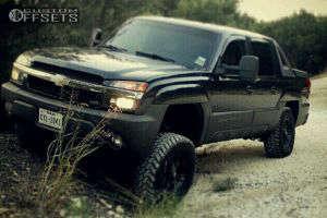 "2003 Chevrolet Avalanche - 17x8.5 -5mm - Fuel Octane - Suspension Lift 6"" - 285/70R17"