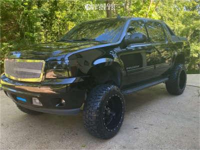 """2010 Chevrolet Avalanche - 22x12 -44mm - RBP 87r - Suspension Lift 7.5"""" - 35"""" x 12.5"""""""