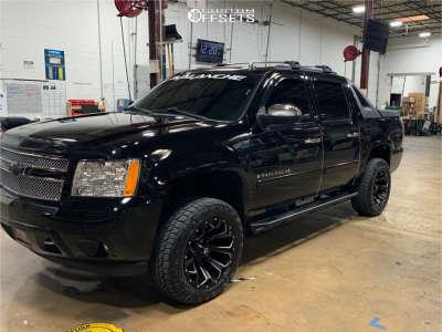 "2008 Chevrolet Avalanche 1500 - 20x10 -18mm - Fuel Assault - Suspension Lift 3.5"" - 275/60R20"